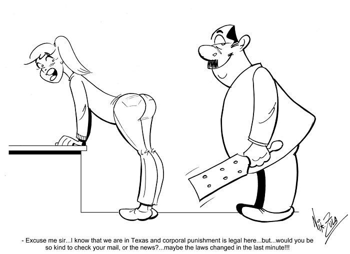 Last minute news   Nik Zula Spanking Art – Humor Chas Chas